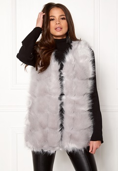 Urban Mist Faux Fur Panel Short Light Grey Bubbleroom.dk