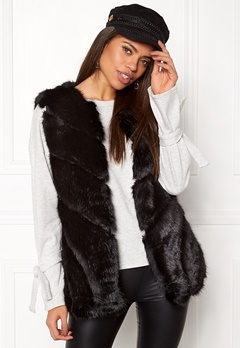 Urban Mist Faux Fur Panel Swing Black Bubbleroom.dk