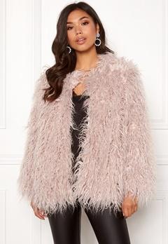 Urban Mist Mongolian Faux Fur Coat Light Pink Bubbleroom.dk