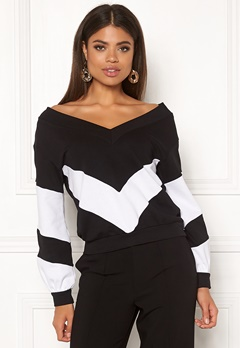Ivyrevel V Neck Sweater Black/White Bubbleroom.dk