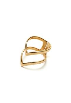WOS Vanessa Ring Gold Bubbleroom.dk