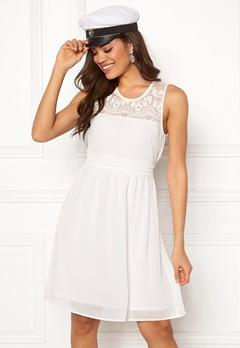 VERO MODA Vanessa SL Short Dress Snow White Bubbleroom.dk