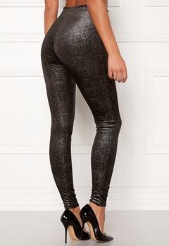 Spanx Velvet Leggings Black/Gold Bubbleroom.dk