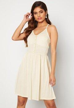 VERO MODA Adarebecca SL Short Dress Birch Bubbleroom.dk