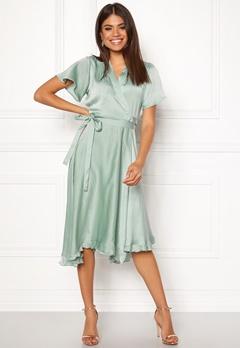 VERO MODA Alanna Wrap Dress Jadeite Bubbleroom.dk