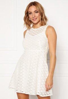 VERO MODA Allie Lace S/L Short Dress Snow White Bubbleroom.dk