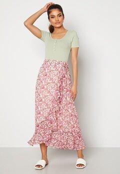 VERO MODA Anneline Wrap Skirt Birch AOP: New Annel bubbleroom.dk