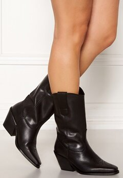 VERO MODA Asa Leather Boot Black Bubbleroom.dk