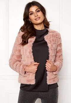 VERO MODA Avenue Faux Fur Short Misty Rose Bubbleroom.dk