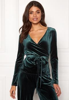 VERO MODA Beaven L/S Wrap Top Green Gables Bubbleroom.dk
