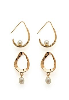 VERO MODA Blia Earrings 2-pack Gold Colour Bubbleroom.dk
