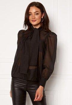 VERO MODA Briana L/S Shirt Black Bubbleroom.dk