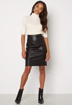 VERO MODA Buttersia Coated Skirt Black bubbleroom.dk