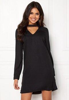 VERO MODA Chiara LS Choker Dress Black Bubbleroom.dk