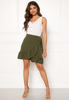 VERO MODA Cita Bobble Wrap Skirt Ivy Green Bubbleroom.dk