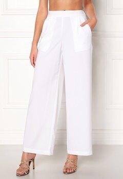 VERO MODA Coco HW Stella Wide Pants Bright White Bubbleroom.dk