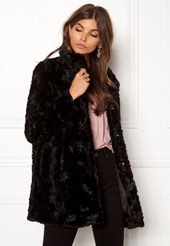 VERO MODA Curl Faux Fur Jacket Black Bubbleroom.dk