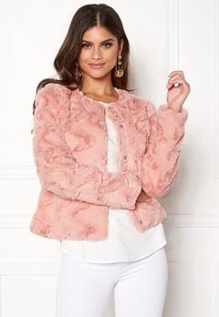 VERO MODA Curl Short Fake Fur Jacket Rose Cloud Bubbleroom.dk