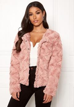 VERO MODA Curl Short Faux Jacket Misty Rose Bubbleroom.dk
