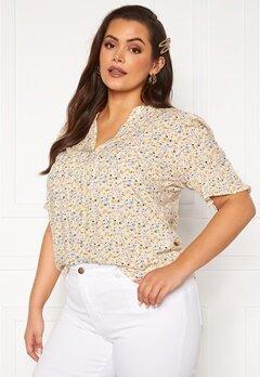 Vero Moda Curve Cila SS Shirt Birch Bubbleroom.dk