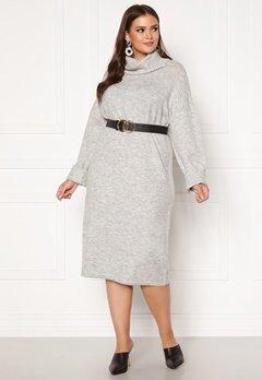 Vero Moda Curve Gaiva Cowl Neck Dress Light Grey Melange Bubbleroom.dk