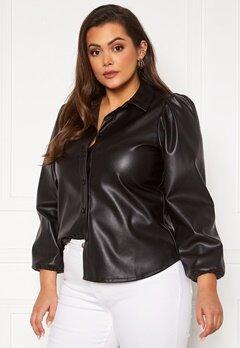 Vero Moda Curve Lio LS Shirt Black Bubbleroom.dk
