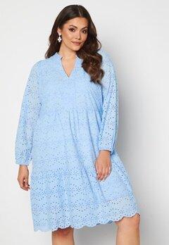 Vero Moda Curve Nice LS Below Knee Dress Placid Blue bubbleroom.dk
