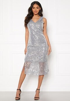 VERO MODA Daisy Calf Dress Silver Sconce Bubbleroom.dk