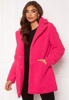 VERO MODA Donna Teddy Jacket Pink Peacock Bubbleroom.dk