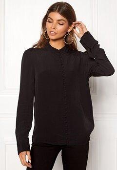 VERO MODA Ella LS Shirt Black Bubbleroom.dk