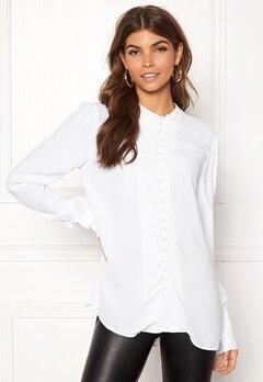 VERO MODA Ella LS Shirt Bright White Bubbleroom.dk
