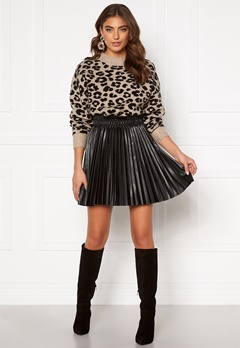 VERO MODA Elvira Coated Skirt Black Metallic Bubbleroom.dk