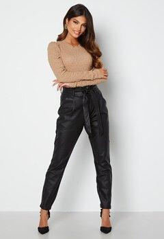 VERO MODA Eva Loose Coated Pants Black bubbleroom.dk
