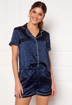 VERO MODA Fanni S/S Nightwear Set Navy Blazer Bubbleroom.dk