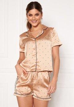 VERO MODA Fanni S/S Nightwear Set Nougat Bubbleroom.dk