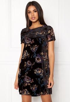 VERO MODA Fiona S/S Short Dress Black Comb 2 Bubbleroom.dk