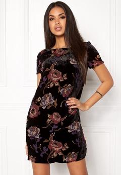VERO MODA Fiona S/S Short Dress Black Comb 3 Lipstic Bubbleroom.dk