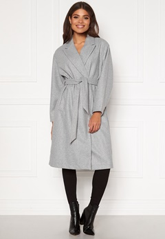 VERO MODA Fortune Long Jacket PI Light Grey Melange Bubbleroom.dk