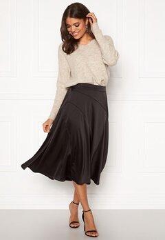 VERO MODA Gabbi Calf Skirt Black Bubbleroom.dk