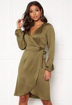 VERO MODA Gamma l/s Wrap Dress Military Olive Bubbleroom.dk