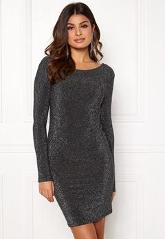 VERO MODA Githa LS Lurex Dress Black Silver Lurex Bubbleroom.dk