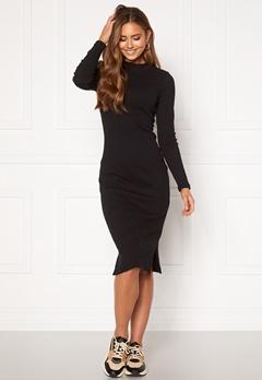VERO MODA Harriet L/S High Neck Dress Black Bubbleroom.dk