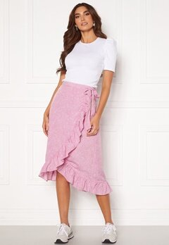 VERO MODA Henna Wrap Blk Skirt Smoky Grape/ Dots<br>  Bubbleroom.dk
