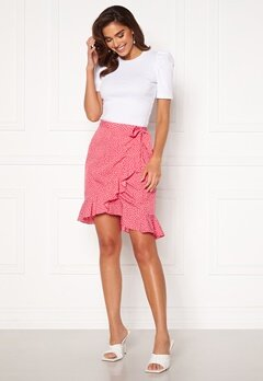 VERO MODA Henna Wrap Short Skirt Honeysuckle / Dots<br>  Bubbleroom.dk