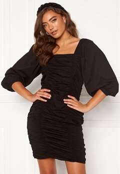 VERO MODA Henny 3/4 Rouching Dress Black Bubbleroom.dk