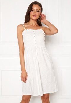 VERO MODA Hey S/L Abk Dress Snow White Bubbleroom.dk