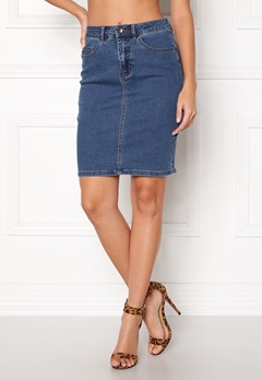 VERO MODA Hot Nine Pencil Skirt Medium Blue Denim Bubbleroom.dk