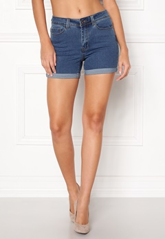 VERO MODA Hot Seven Fold Shorts Medium Blue Denim Bubbleroom.dk