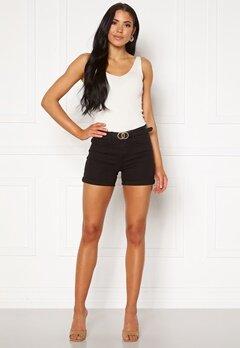 VERO MODA Hot Seven NW Dnm Fold Shorts Mix Black Bubbleroom.dk