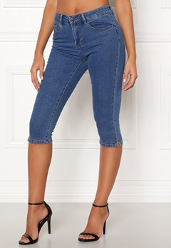 VERO MODA Hot Seven Slit Knickers Medium Blue Denim Bubbleroom.dk